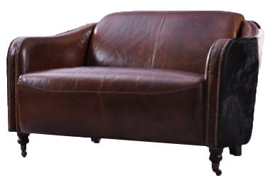 clubsofa dallas 2 sitzer vintage leder kuhfell kaufen bei mehl wohnideen. Black Bedroom Furniture Sets. Home Design Ideas