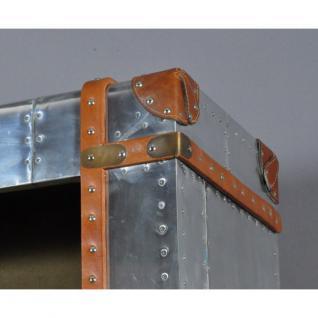 Regal Bookcase aus Aluminium und Vintage Leder mit vier Fächern - Vorschau 4