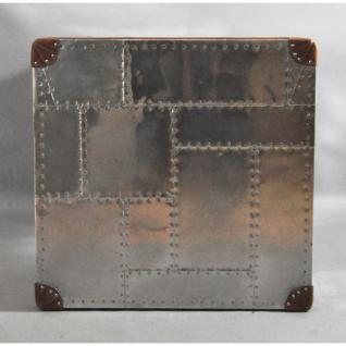 Schreibtisch Winster aus Aluminium und Vintage-Leder - Vorschau 4