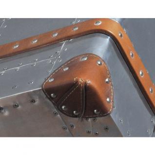 Schreibtisch Winster aus Aluminium und Vintage-Leder - Vorschau 5