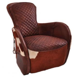 Designsessel Greenfield Vintage-Leder Kuhfell