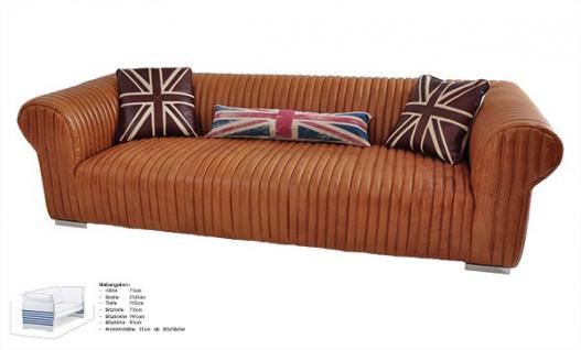 ledersofa columbia 3 sitzer vintage leder kaufen bei mehl wohnideen. Black Bedroom Furniture Sets. Home Design Ideas