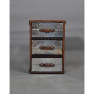 Schubladenschrank TomCat 3 Aluminium Vintage-Leder - Vorschau 2