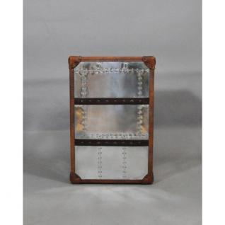 Schubladenschrank TomCat 3 Aluminium Vintage-Leder - Vorschau 4