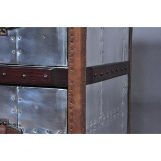Schubladenschrank TomCat 3 Aluminium Vintage-Leder - Vorschau 5
