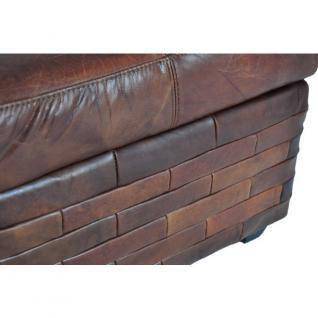 fu hocker birmingham spezial mit stauraum vintage leder kaufen bei mehl wohnideen. Black Bedroom Furniture Sets. Home Design Ideas