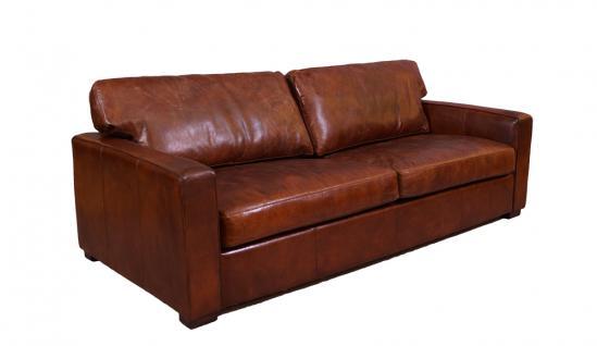 Loungesofa Durban 3-Sitzer Vintage-Leder - Vorschau 1