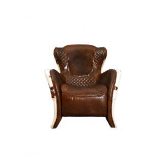 Designsessel Buffalo Kuhfell Vintage Leder - Vorschau 2