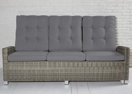 3-Sitzer Gartensofa Rabida champagner Loungesofa Sofa Gartenmöbel Living-Sofa Polyrattan