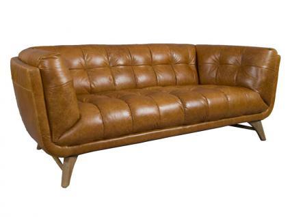 Design Clubsofa Forster 2, 5 Sitzer Vintage Leder Columbia Brown