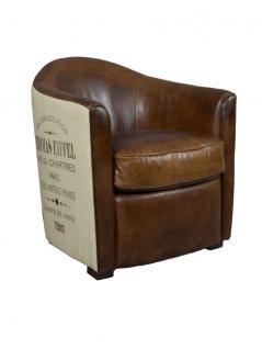 design clubsessel kendal vintage cigar leder jute. Black Bedroom Furniture Sets. Home Design Ideas