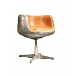 Design Schalensessel Stenness Drehstuhl Vintage-Leder - Vorschau 1