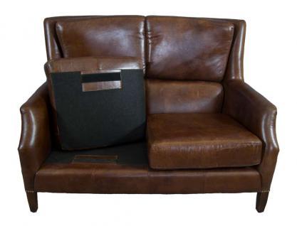 Clubsofa Lewes 2-Sitzer Vintage Cigar Leder - Vorschau 5