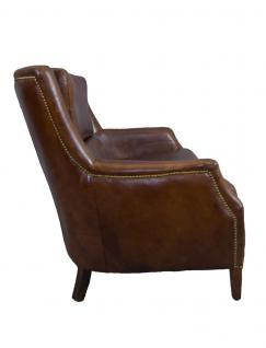 Clubsofa Lewes 2-Sitzer Vintage Cigar Leder - Vorschau 3