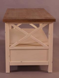 Couchtisch Loire Landhaus Stil Holz Vintage Look creme weiß - Vorschau 3