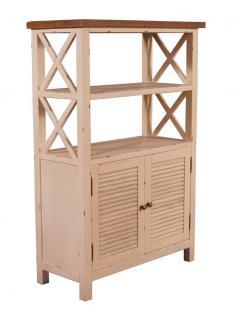 Standregal Loire mit Schrankfach Landhaus Stil Holz Vintage Look creme weiß