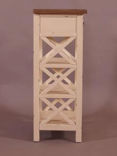 Standregal Loire mit Schublade Landhaus Stil Holz Vintage Look creme weiß - Vorschau 3