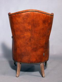Ohrensessel Vernon Vintage Leder - Vorschau 4