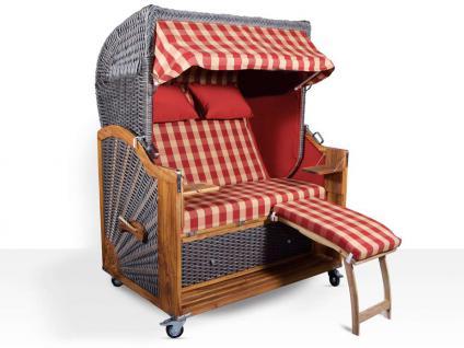 strandkorb kampen mocca duo hell 2 5 sitzer rot beige kariert pe vollieger kaufen bei mehl. Black Bedroom Furniture Sets. Home Design Ideas