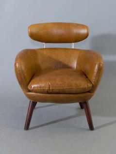 Designsessel Swinford Vintage Leder Columbia Brown - Vorschau 2