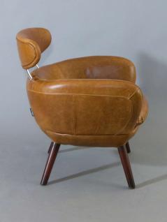 Designsessel Swinford Vintage Leder Columbia Brown - Vorschau 3