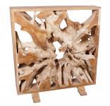 Wohndekoration Raumteiler aus massiver Teakholz-Wurzel mit Rahmen