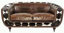Clubsofa Banbury 2-Sitzer Vintage-Leder Kuhfell