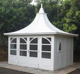 Gartenhaus Bothy Gazebo Mahagoni Holzhaus Geräteschuppen Blockhaus weiß