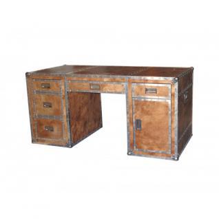Schreibtisch braun holz online bestellen bei yatego for Schreibtisch x factory