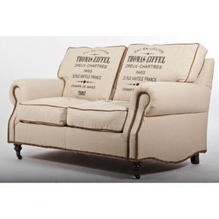 Classic-Sofa Eiffel Vintage Leinen 2-Sitzer - Vorschau 1