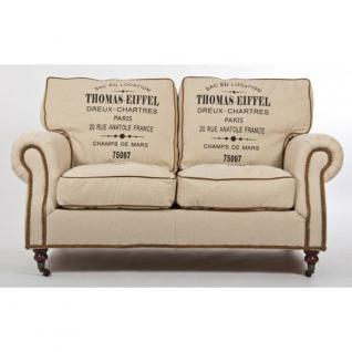 Classic-Sofa Eiffel Vintage Leinen 2-Sitzer - Vorschau 2
