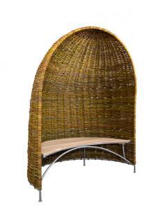 Weidenmuschel mit Sitzbank - Vorschau 1