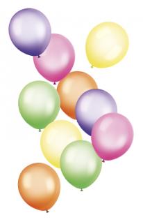 10 bunte Luftballons Neon