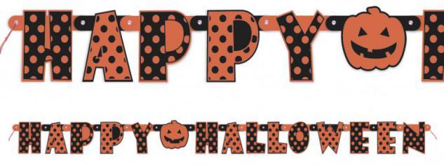 Orange girlande g nstig sicher kaufen bei yatego - Halloween girlande ...