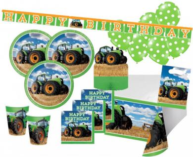 XL 49 Teile Traktor Geburtstags Party Deko Set 8 Personen