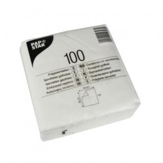 100 Servietten Weiß 1lagig