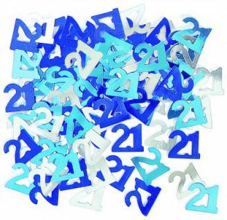 21. Geburtstag Deko Konfetti Blau