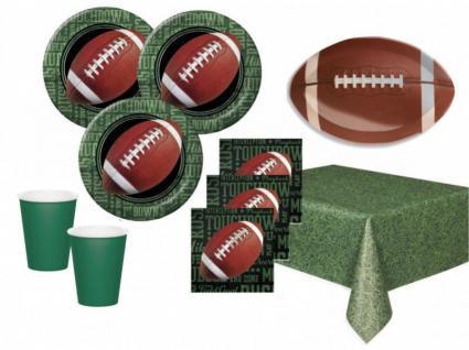 50 Teile Football Superbowl Party Deko Set 16 Personen Touchdown
