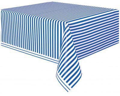 Tischdecke Königs Blau Weiß gestreift