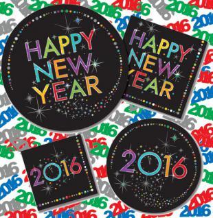 2016 Silvester und Neujahr Happy New Year Party Set