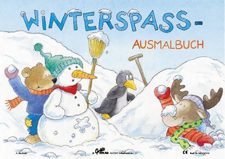 Winter Schneemann Malbuch