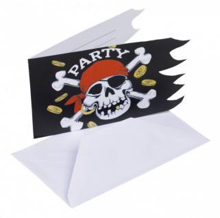 6 Jolly Roger Einladungen
