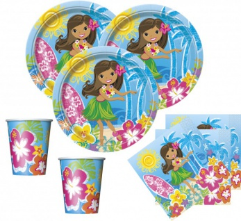 32 Teile Hawaii Party Deko Set Hula Beach 8 Personen