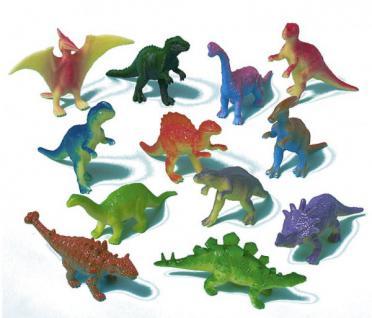 12 kleine Plastik Dinosaurier
