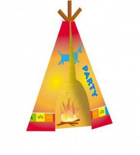 8 Indianer Einladungskarten