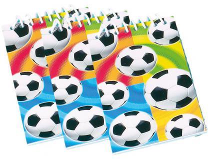 12 Fußball Notiz Blöcke