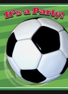 8 Einladungskarten Fußball Party