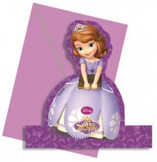 4 stehende Einladungskarten Prinzessin Sofia
