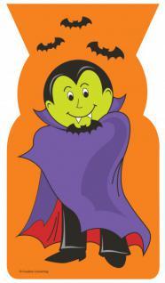 20 geformte Halloween Zellophantüten Vampir