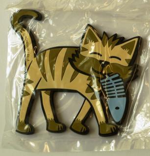Katze mit Fisch - Kool Cats - Glasuntersetzer